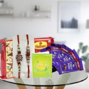 rakhi dairy milk chocolates and soan papdi
