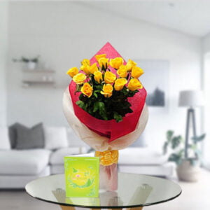 enticing yellow roses bouquet