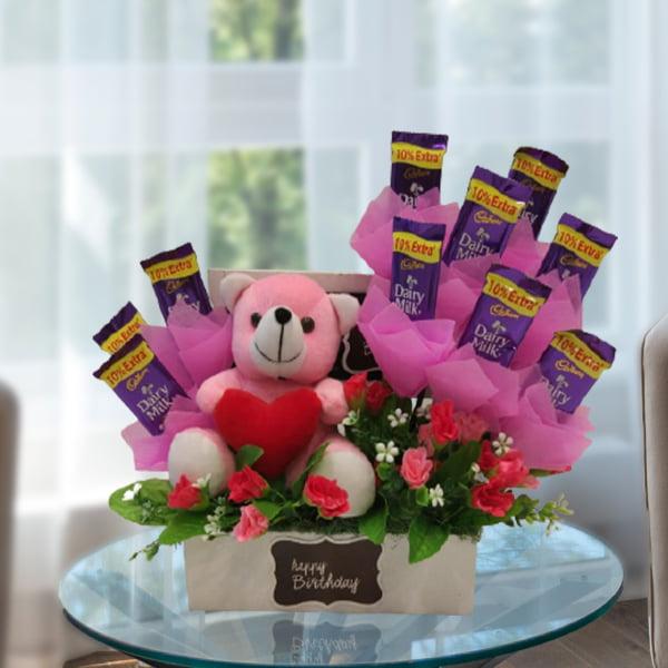 chocolate and teddy box