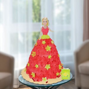 Floral Doll Cake