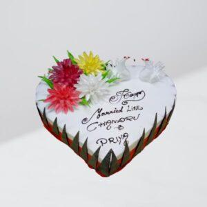 delicious heart cake
