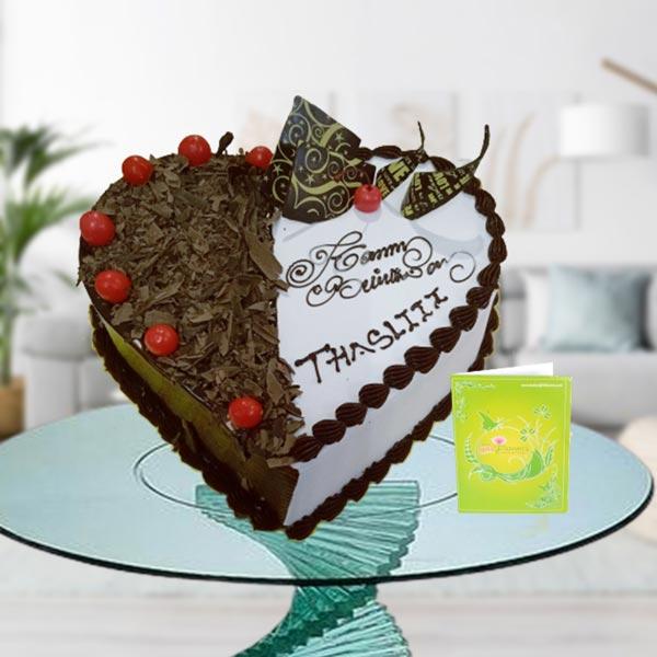 double flavor heart shape cake